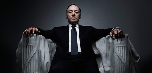 Kevin Spacey v seriálu House of Cards.