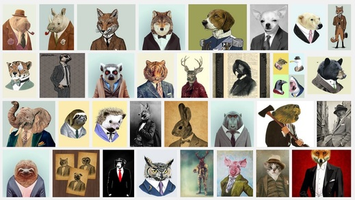 "Google Search ""animal in suit""."