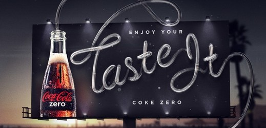Billboard Coca-Cola Zero.